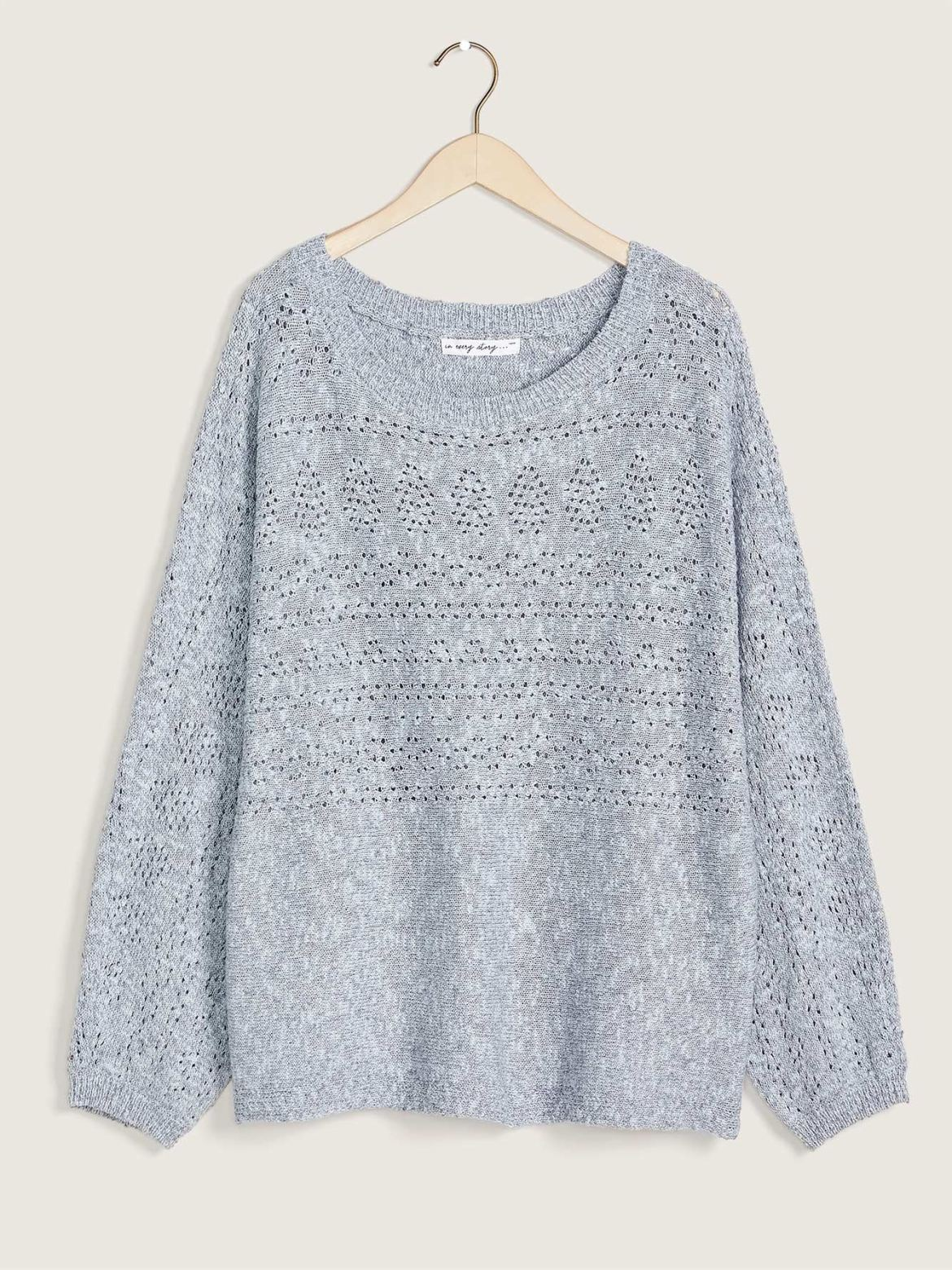 Pointelle Dolman Sleeve Sweater - In Every Story