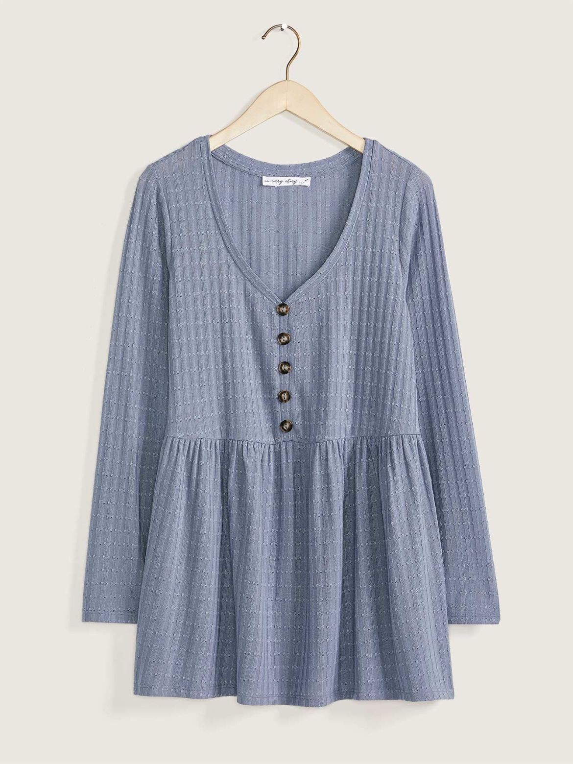 Pointelle Knit Babydoll Top - In Every Story
