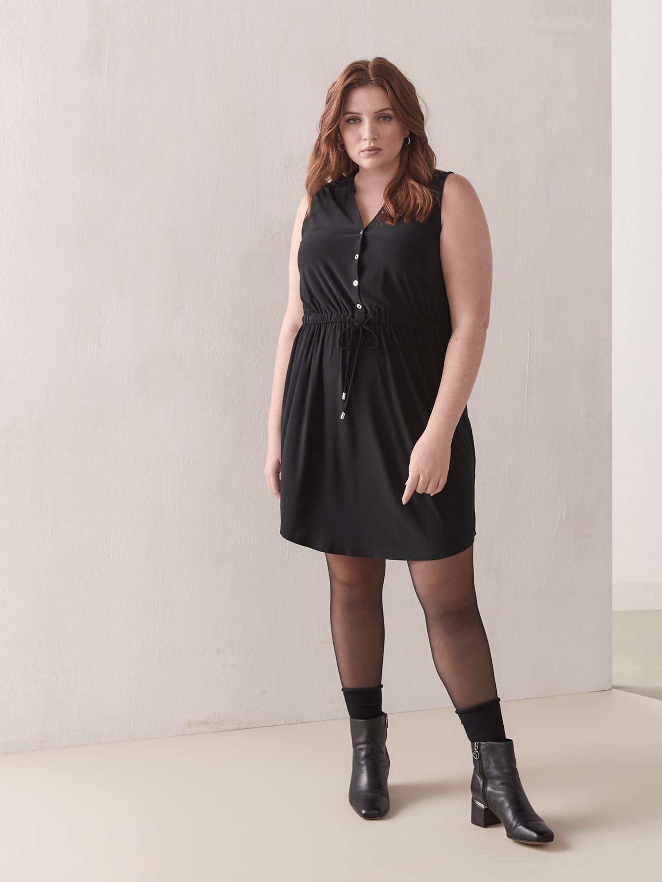 Sleeveless Shirt Dress - Addition Elle 2