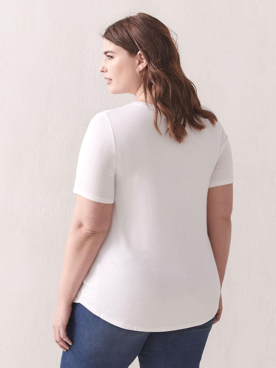 Modern-Fit Crew-Neck T-Shirt - Addition Elle