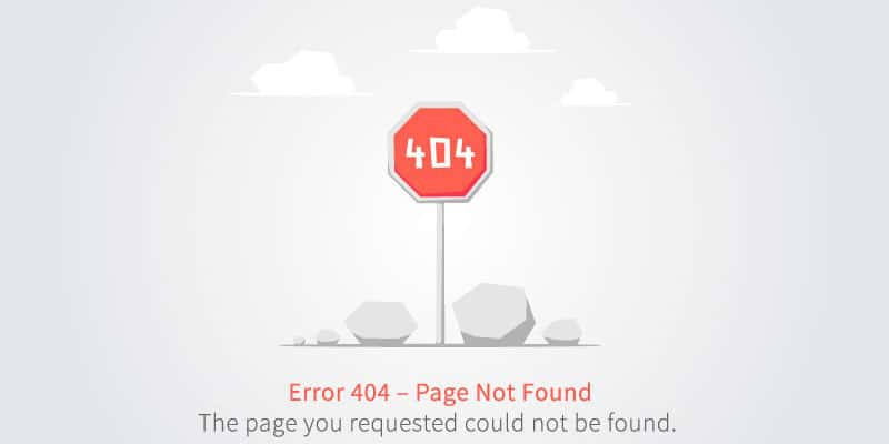 website 404 error page