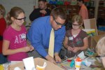Millersville University student with 5th graders