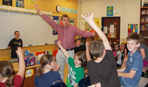 Representative Brian Cutler and fourth grade classes at Martic Elementary School