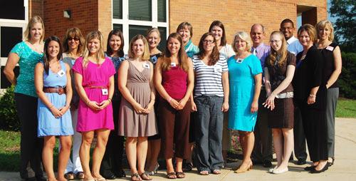 Pictured are: (Front row, left to right) Jenna Boyd (Central Manor, grade 2), Ryan Mitten (Central Manor, grade 3), Sara Evans-Bodde (PMHS, English), Alison Weidman (Central Manor, grade 5), Kathleen Beaver (PMHS, Science), Beth Schoelkopf (Central Manor, grade 6), Jamie Golden (PMHS, Chemistry), Kerry Bushong (Martic, grade 2) (Back row, left to right) Lindsey Clark (PMHS, Chemistry), Cynthea Eisenhauer (Manor Middle, Learning Support), Jolyn Wolf (PMHS, Math), Elizabeth Bender (PMHS, Math), Jane Myers (PMHS, Math), Katherine Watkins (Central Manor, grade 6), Jeffrey Heiney (Hambright, grade 4), Jerrell Birch (Central Manor, grade 5), Megan Peart (Martic, grade 3). Not pictured are Lisa Angelucci (PMHS, English), Angela Gallello (Hambright, ESL), Karen Reen (Hambright, grade 4), Stephanie Martin (PMHS, Learning Support), and Drew Wilson (PMHS, English).