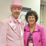 Dr. Leichtliter and Vicki Hallock, Penn Manor's supervisor of elementary education