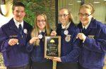 Poultry team members (l-r): Chad Goshert, Sammy Bleacher, Katie Bleacher and Emily Witmer