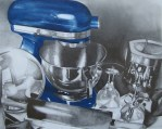 """Blue Mixer,"" drawing, Gabriella Minnich."