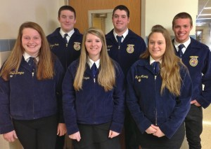 From left, Left to right--Steph Dengler, Logan Pickle, Katelyn Campion, Wayne Rineer, Shyanne Murray, and Cody Martin.
