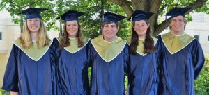 From left, Emily Thyrum, Emily Ferrick, Evan Toomey, Danielle Wright and Jack Zimmerman.