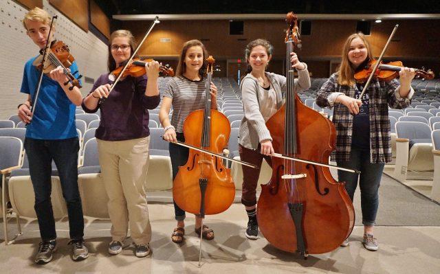 From left, Jesse Kanagy, Eleanor Helm, Ally Rittenhouse, Evelyn Weaver and Hannah Shenk.