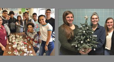 Students and staff who participated in the Tree Galore event