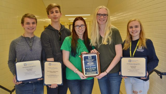 The five award-winning Penn Manor theatre students