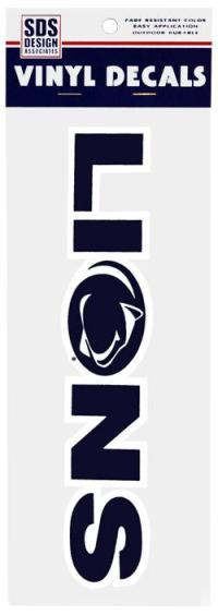"""Decal 10"""" with PSU Lions Logo Print 