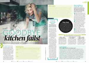 Cooking mistakes magazine feature Penny Carroll writer