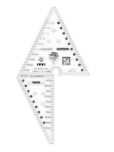 Creative Grids 2 Peaks in 1 Multi-Size Triangle Ruler