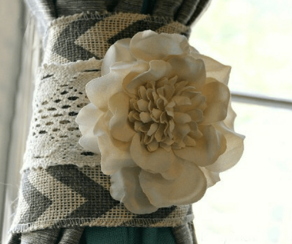curtain tie back diy project just 15