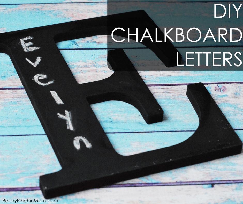 DIY Chalkboard Letters Affordable Decorating Idea