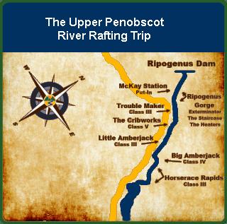 Upper Penobscot Maine River Rafting Trip