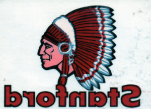 Original decal of the Stanford Indian