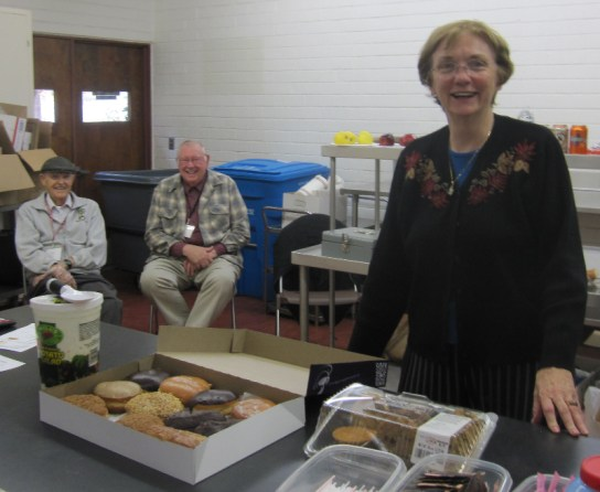 John Dusel, LeRoy Bertsch, and MaryGrace Bertsch working the PENPEX 2010 snack bar.