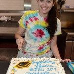 Jessica and Graduation cake2
