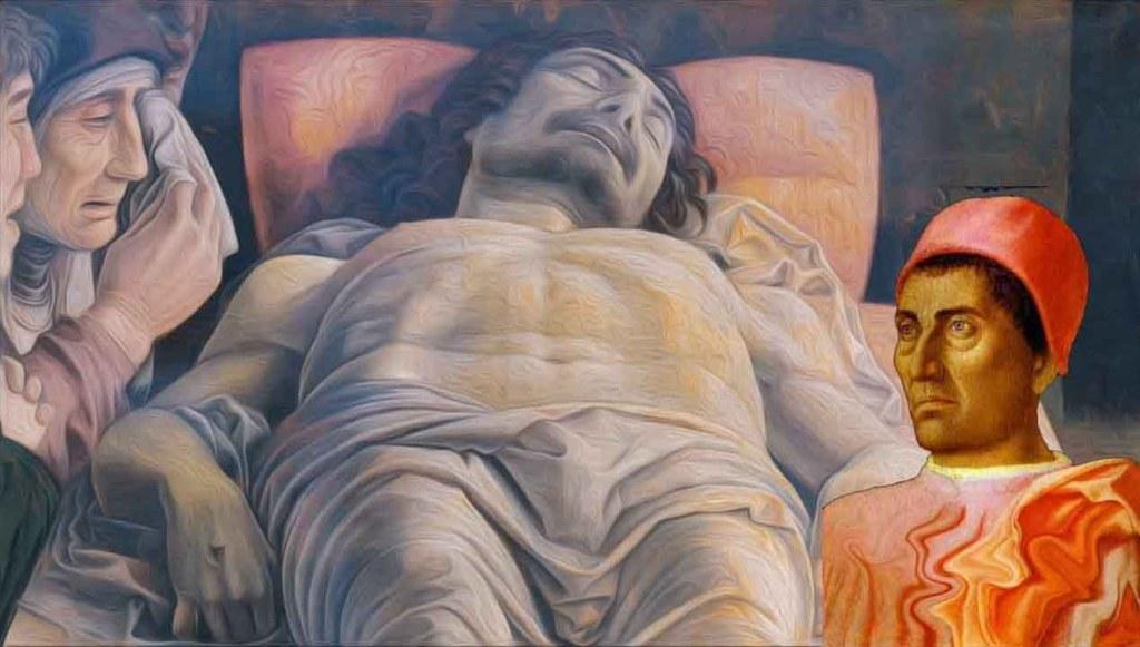 Cristo morto di Andrea Mantegga, da ammirare presso Museo di Milano