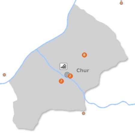 Chur Monteurzimmer  Pensionen Ferienwohnungen Unterkunft in und um Chur