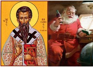 Ἅγιος Βασίλειος καὶ ὄχι Santa Claus.