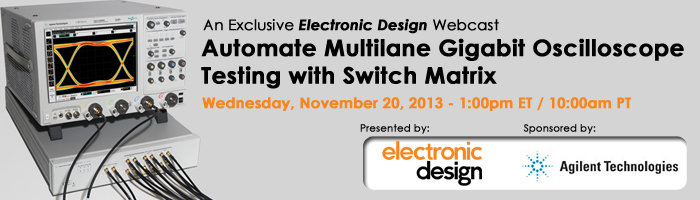 Automate Multilane Gigabit Oscilloscope Testing with Switch Matrix