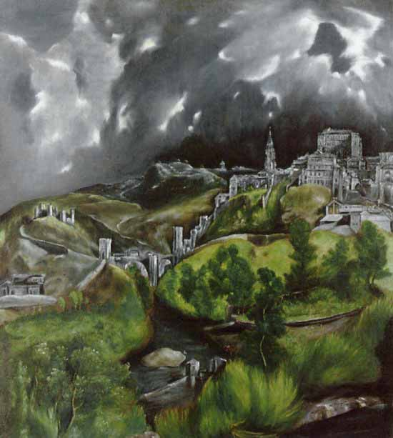 [El Greco Prints - View of Toledo]