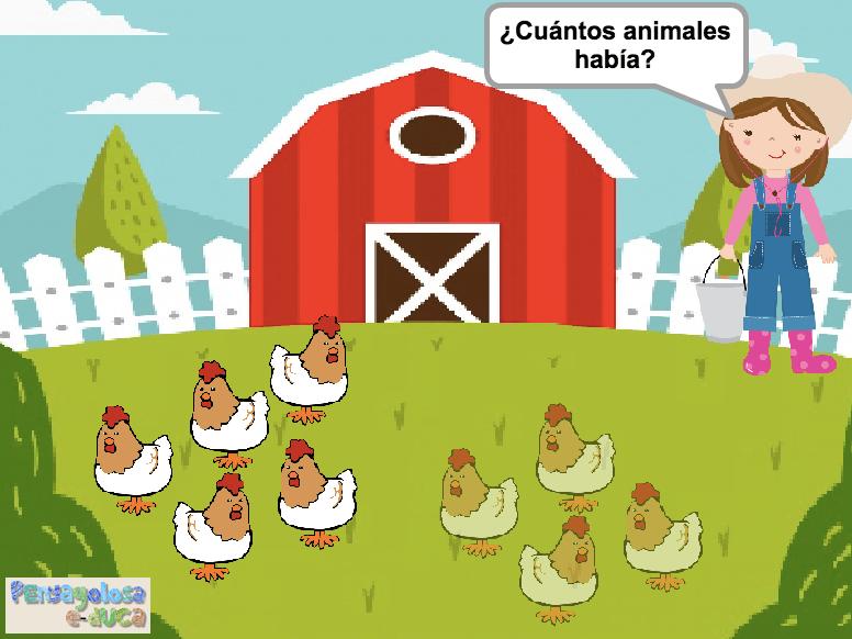 ¿Cuántos animales había? (1-10)