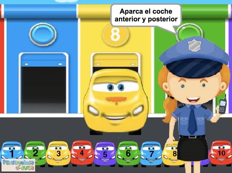 Aparca el coche anterior y posterior (1-10)