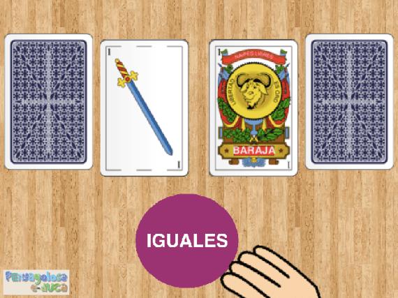 Consigue parejas de cartas con el mismo número (1-5)