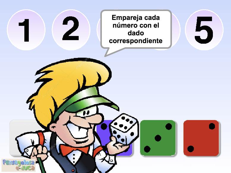 Empareja cada número con su dado (1-5)