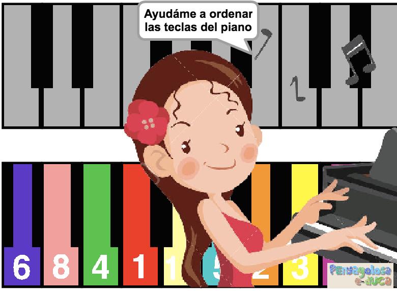 Ordena las teclas del piano (1-10)