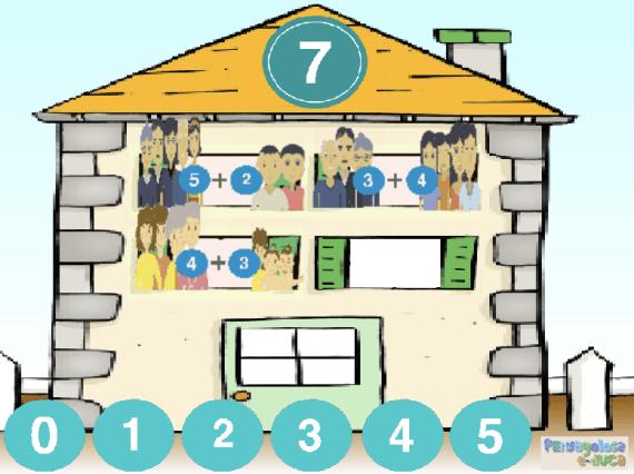 ¿Quién vive en cada piso de esta casa? (6-8)