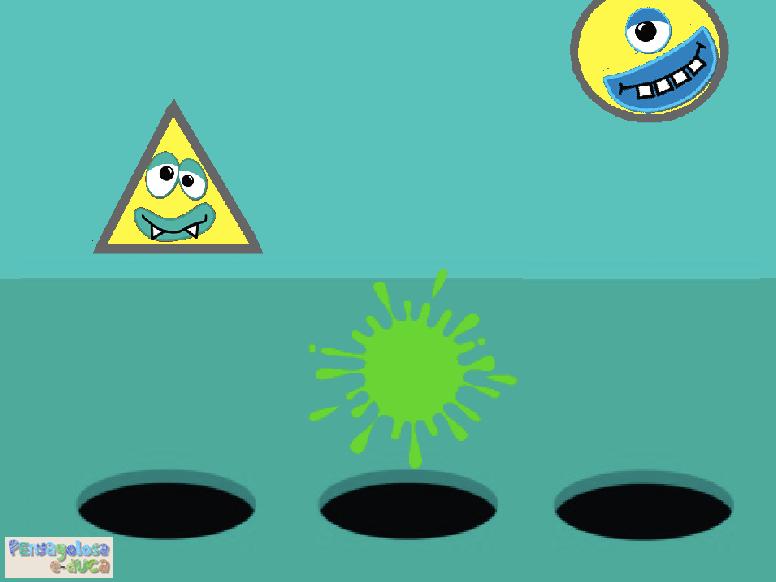 Aplasta monstruos según su color