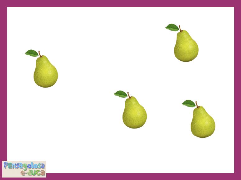 ¿Cuánta fruta has visto? (1-5)