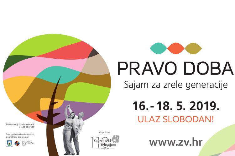 "Program Sajma za zrele generacije ""Pravo doba"", Zagreb, 16-18. maj 2019."