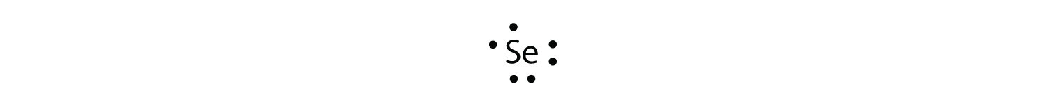 electron dot diagram for s pioneer car audio wiring chapitre 9 br section a lewis diagrams the valence configuration selenium is 4 2 p in highest numbered shell n there are six electrons its