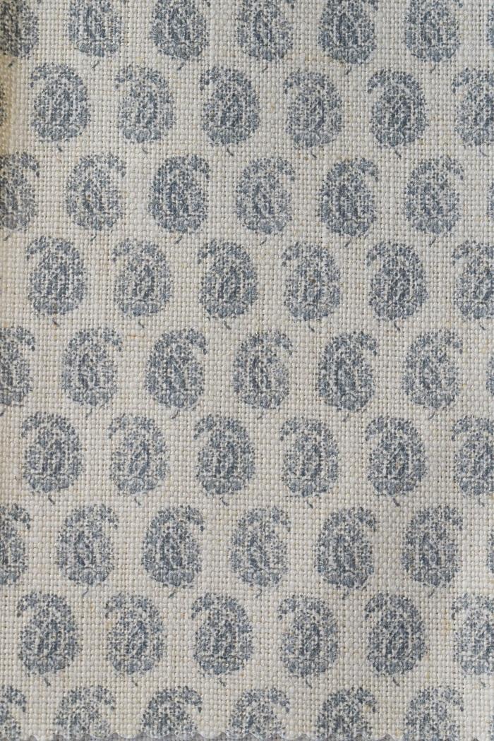 okra storm blue on chunky cream linen temporarily on cream linen as of 25 03 2021