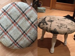 Before and After Footstool