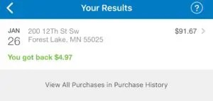 Walmart Savings Catcher total