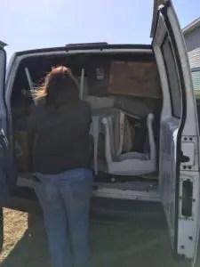 Jennifer Packing the Van