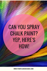 Spraying Chalk Paint
