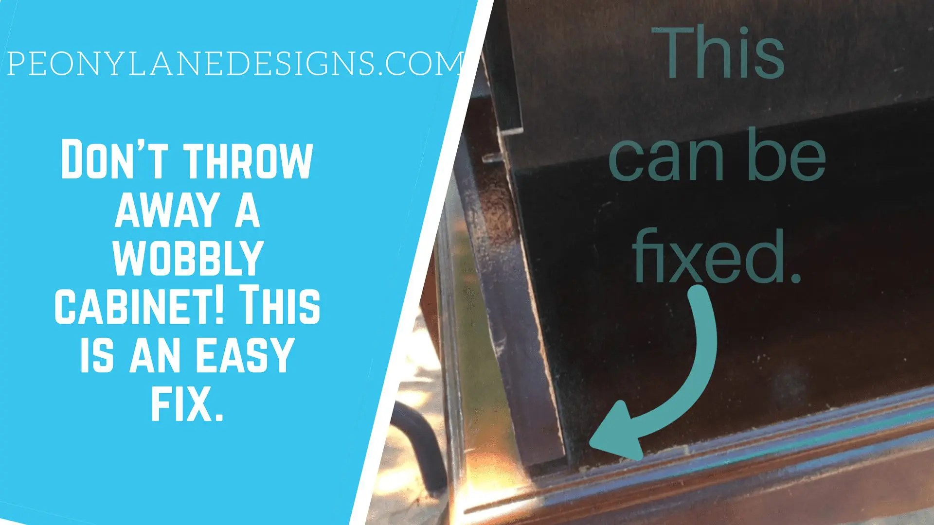 Don't Throw Out That Wobbly Table! It's and Easy DIY Fix!
