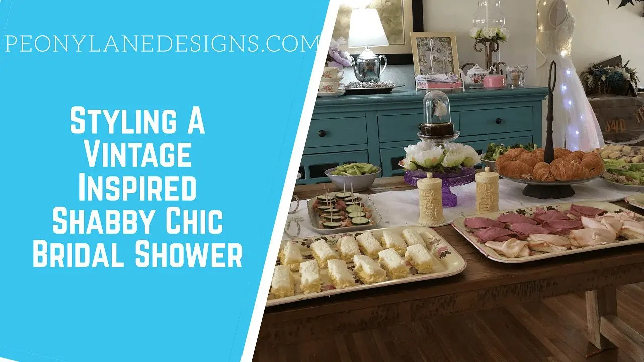 Styling a Vintage Inspired, Shabby Chic Bridal Shower! Don't Miss The Bride Tree!