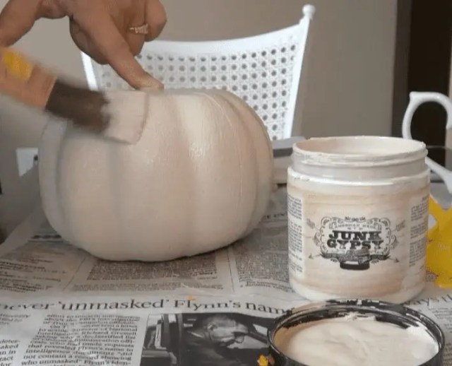 Chalk Painting Some Pumpkins
