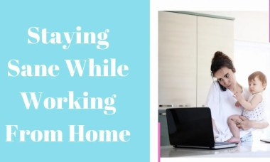 Saying saying while working from home Main image