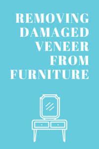 Remove Damaged Veneer From Furniture